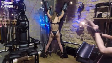Strapped to the St Andrews Cross