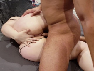 Thicc White Girl Gets Fucked Deep- Spreads and Fingers Asshole