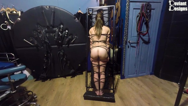 Image board bondage - Cute butt on show as k is strapped to the bondage board