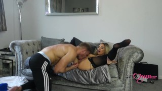 kinky hot british blonde milf gets penetrated and takes big creampie 4k
