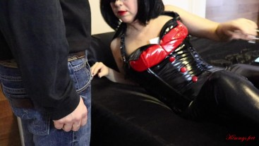 femdom cock cage slave 2 minutes cum challenge (failed) DAY#6
