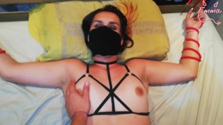 College roommate tied me up and fucked me (cheating on BF)