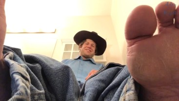 Cowboy On Toilet Gay Foot Worship POV