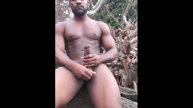 Free man schlongs tgp - Black stallion on the beach jerking my cock virgin island style free up