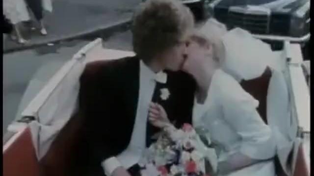 Vintage wedding color Her biggest day