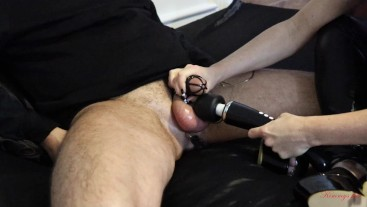 chastity cage slave anal vibrator cum challenge cums in less 2 minutes DAY6