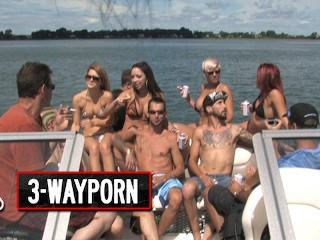 Way Porn Speedboat Group Orgy Part