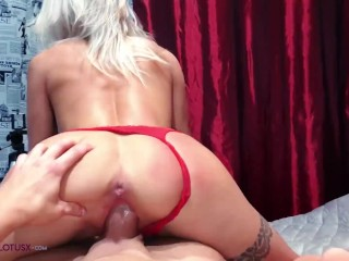 Babe Big Tits Passionate Blowjob and Riding Hard Cock POV