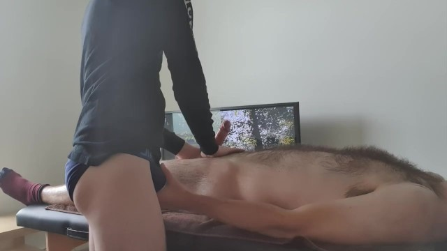 First gay man in the world - British hairy twink receives first erotic massage with happy ending nude