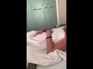 Mom shares hotel bed with step son on holiday