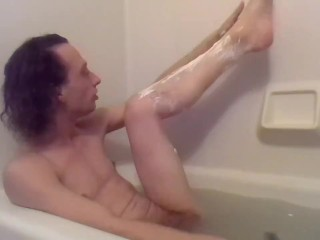 Shaving My Legs and Bootyhole in My Bathtub