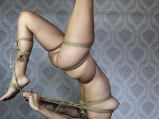 Hanging High Shibari Suspension Session Gween Black