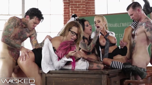 Wife sex stories with pictures Wickedpictures - classroom orgy led by teacher