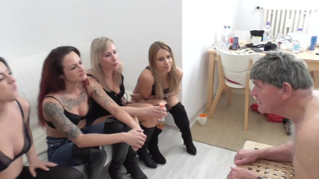 Pierced slave pissing - Humiliation slaves - femdom party domination