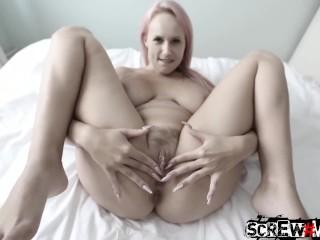 SCREWMETOO Big Tit Angel Wicky Fucked With Creamy Creampie