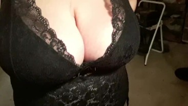 Trying on new lingerie and my strapon before tonight's fun