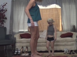 Tall Woman and Midget!!