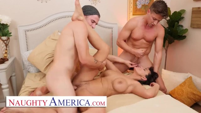 Big boob milf naughty america Naughty america - milf becky bandini gets tag teamed by college boys