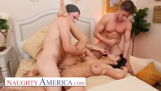 Naughty America – MILF Becky Bandini gets tag teamed by college boys