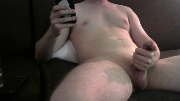 Jerking My Thick Cock On The Couch