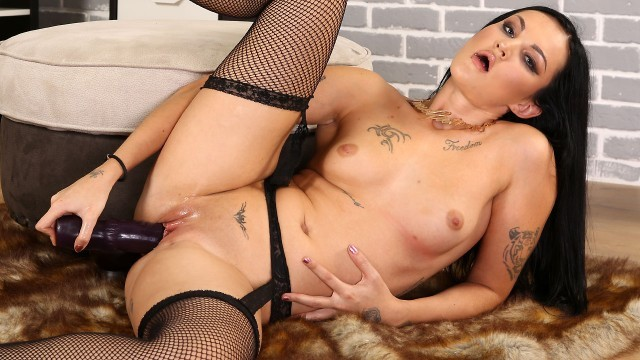 Will She Be Able To Take This MONSTER Dildo?