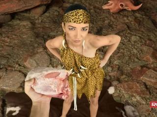 Prehistoric VR porn scene in a cave Francys Belle