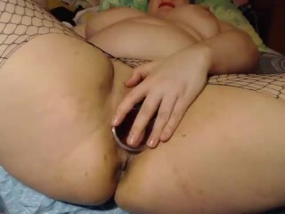 Ass pump pussy spread witj speculum&hand strech it with dildos anal