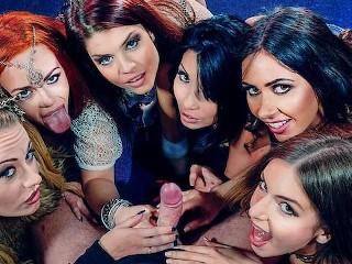 Stella LuciaEllaRinaCarmel and Roxy sharing a Cock Ella Hughes, Lucia Love, Rina Ellis, Stella Cox