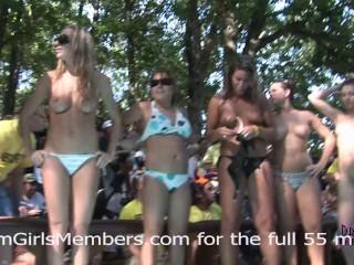 Bikini Contest At Nudist Resort Gets Wild & Everyone Gets Naked