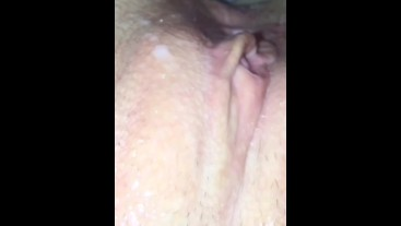 Husband Cleans Wifes Pussy Before & After Covered in Cum / BONUS SLO-MOTION