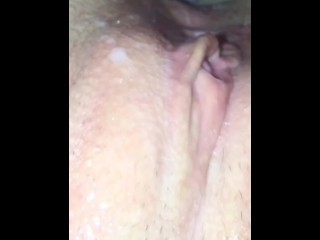 Husband Cleans Wifes Pussy Before & After Covered in Cum BONUS SLOMOTION