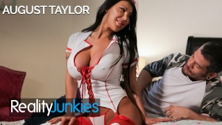 Reality Junkies - Busty Latina Nurse August Taylor gets fucked in uniform