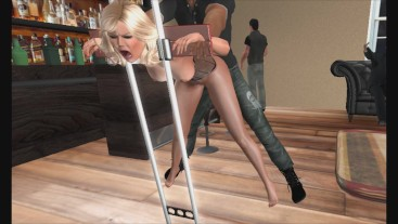 Pantyhose Blonde Fucked in Pillory Stockade