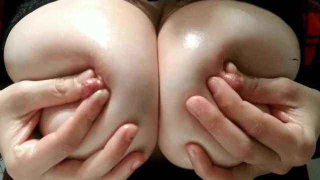 Swallen breast in males Using oil to massage my swollen tender breasts. moaning