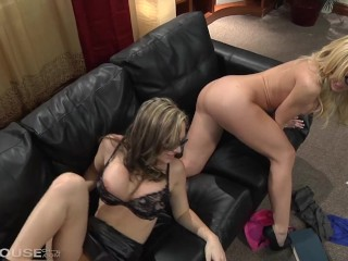 Stunning Blonde Penthouse Pet Angela Sommers Face Fucking a gorgeous Lesbia main image