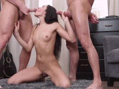 Double Penetration Thriller Starring Raunchy Russian Teen Babe Carey Cherry