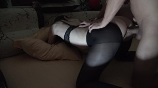 Tore tights and fuck a bitch