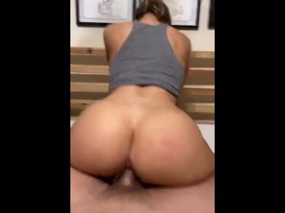Post Gym POV Fuck with Big Ass Blonde - Amateur Couple