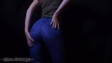 Jeans and Shadows Ass Tease - ass fetish jeans fetish denim ass tease pov