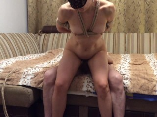 The first time shibari creampie