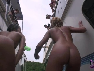 Hot Naked Party Girls Let Us Film Them Peeing