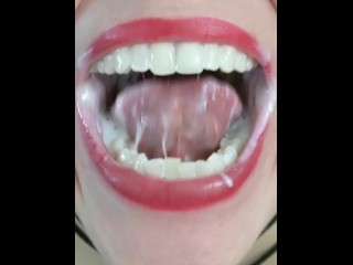 Yogurt Play in Mouth & Throat with a Regurgitation Ending