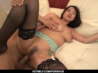 Saki Sudou stands nude and deals the dick in bo – More at Japanesemamas com