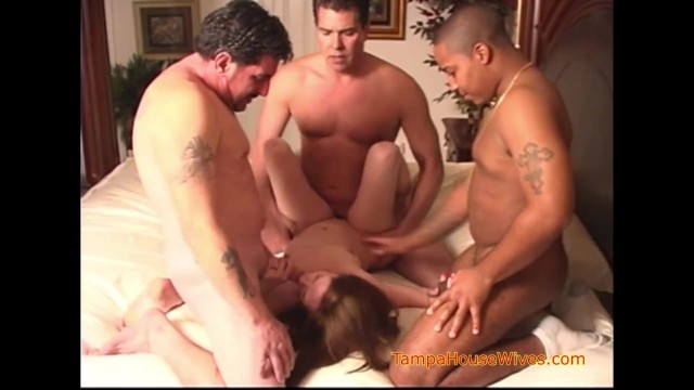 Sexy horny cheating housewives The weekly interracial gangbang of a horny housewife