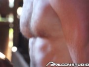 FalconStudios - Rough Gay Threesome On The Farm