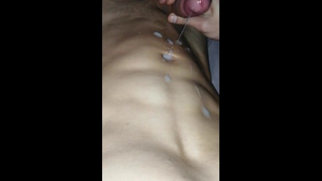 Gay abs pics Cum on abs