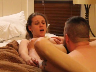 New Year's Pussy Eating and Creampie for Petite Freak