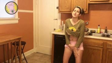 Peeing in Pants PISS DESPERATION FETISH, HAIRY GIRL NEXT DOOR
