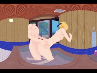 VR 360 Video Anime Saber Artoria Pendragon Fate series bathroom sex