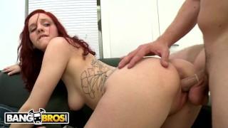 BANGBROS - Insanely Hot Redhead Named Ginger Maxx On Backroom Facials